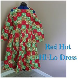 Red hot high low dress